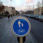 Verkeersbord in Brussel