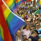 Protest homo's tegen Russisch concert op Museumplein
