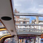 Blik op Amsterdamse huizen vanuit rondvaartboot - Foto: Alexandra Koch