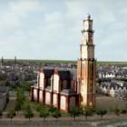 Groei Amsterdam, afbeelding uit animatie van het Stadsarchief.